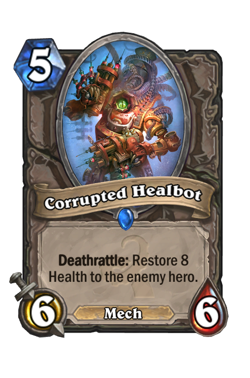 Corrupted Healbot Hearthstone kártya