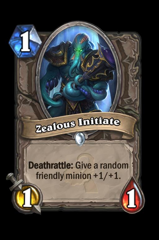 Zealous Initiate Hearthstone kártya