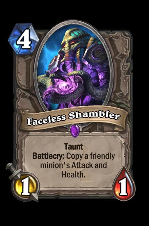 Faceless Shambler Hearthstone kártya