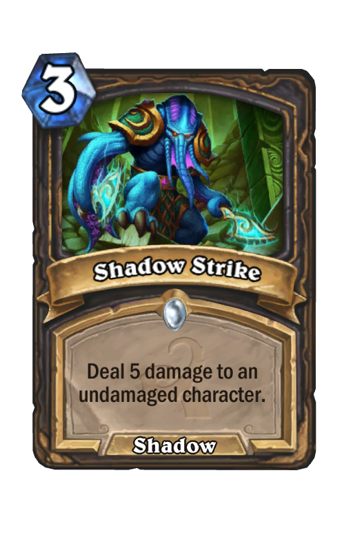 Shadow Strike Hearthstone kártya