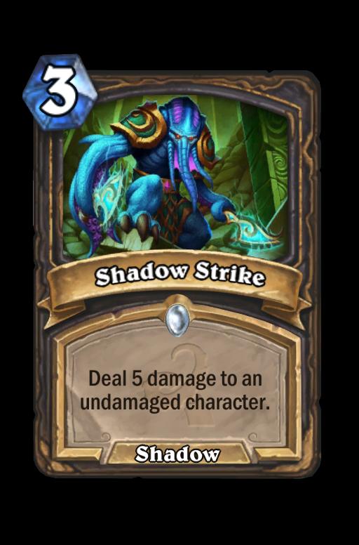 Shadow Strike Hearthstone kártya