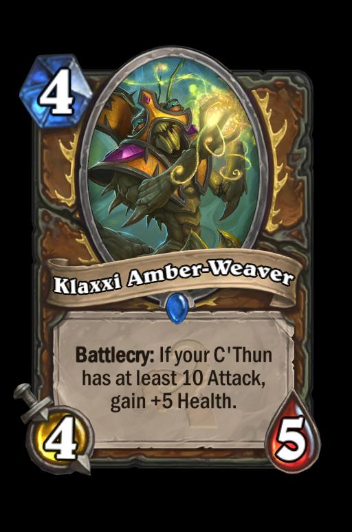 Klaxxi Amber-Weaver Hearthstone kártya