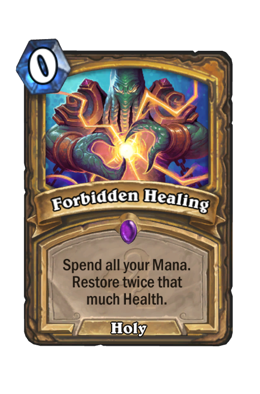 Forbidden Healing Hearthstone kártya