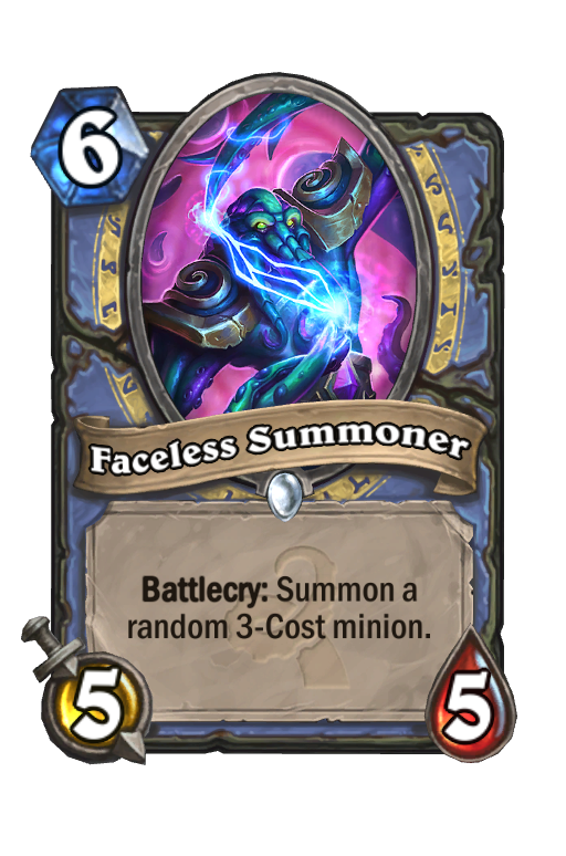 Faceless Summoner Hearthstone kártya