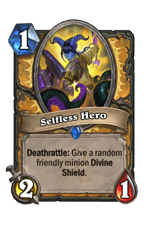 Selfless Hero Hearthstone kártya