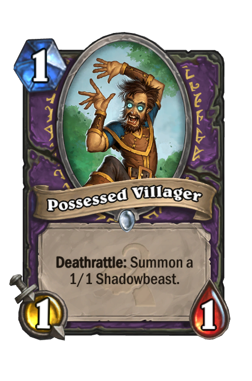 Possessed Villager Hearthstone kártya