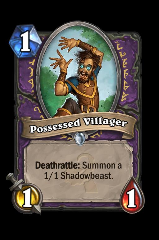 Possessed Villager Hearthstone kártya