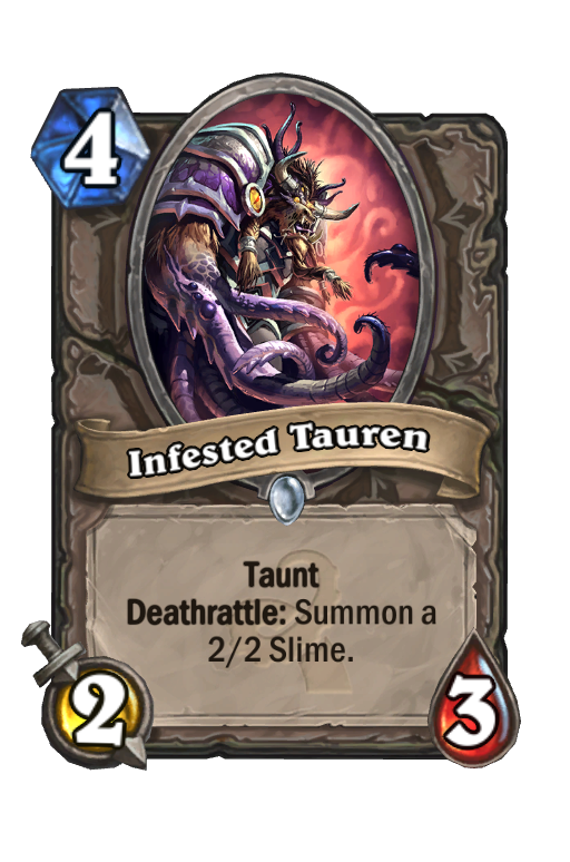 Infested Tauren Hearthstone kártya
