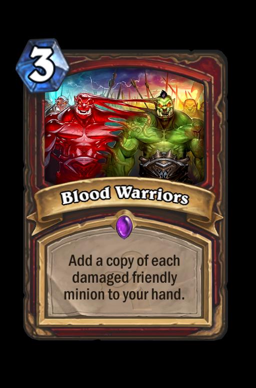 Blood Warriors Hearthstone kártya