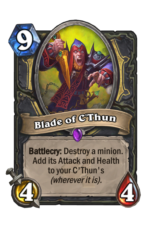 Blade of C'Thun Hearthstone kártya