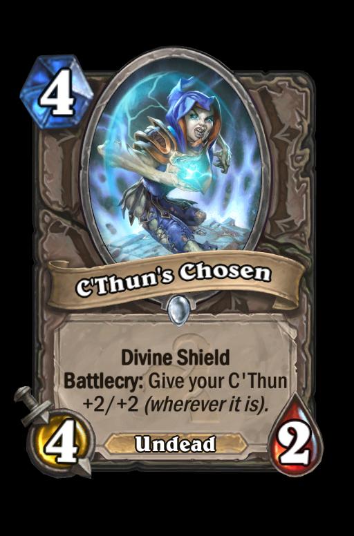 C'Thun's Chosen Hearthstone kártya