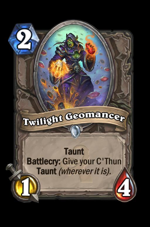 Twilight Geomancer Hearthstone kártya