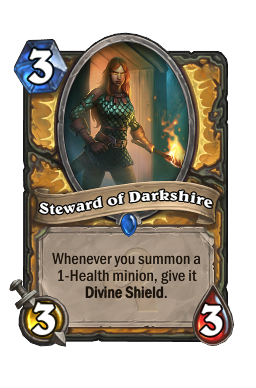 Steward of Darkshire Hearthstone kártya