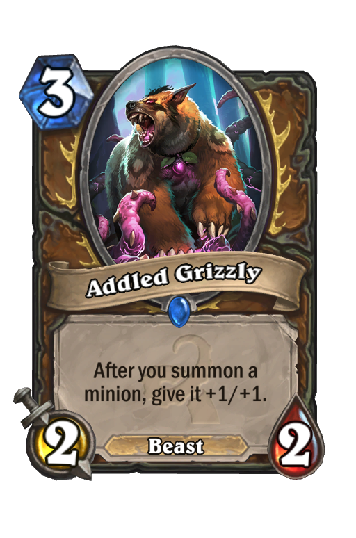 Addled Grizzly Hearthstone kártya