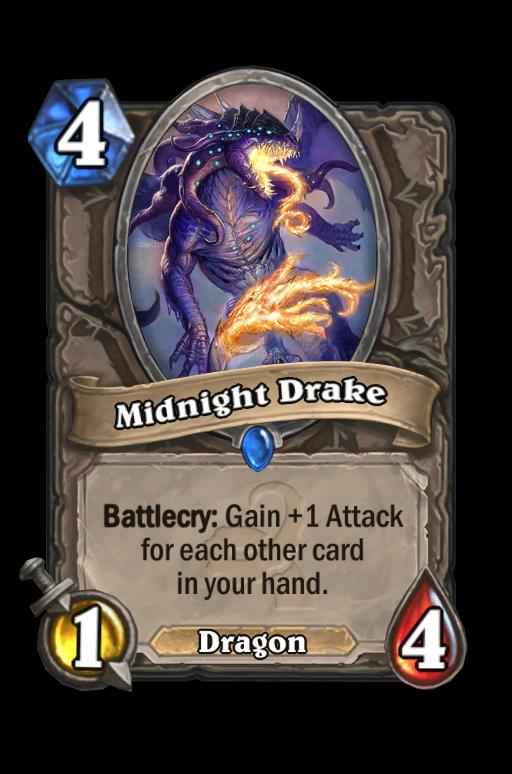 Midnight Drake Hearthstone kártya