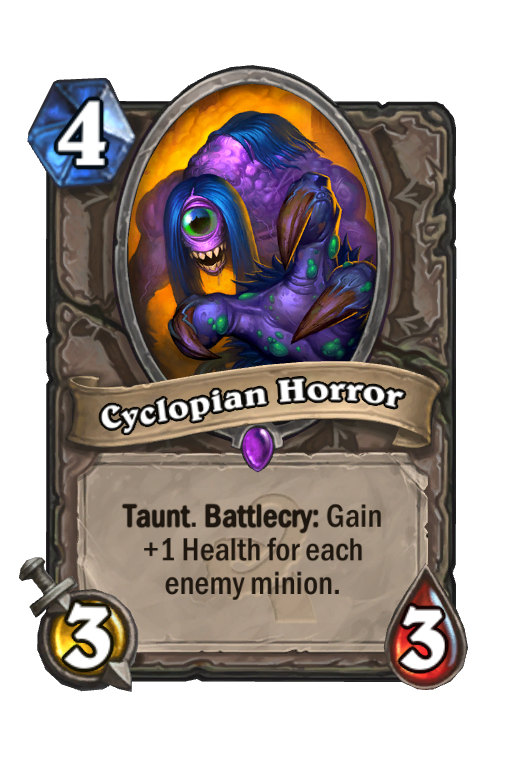 Cyclopian Horror Hearthstone kártya