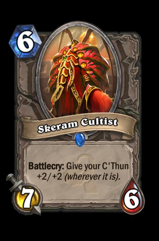 Skeram Cultist Hearthstone kártya