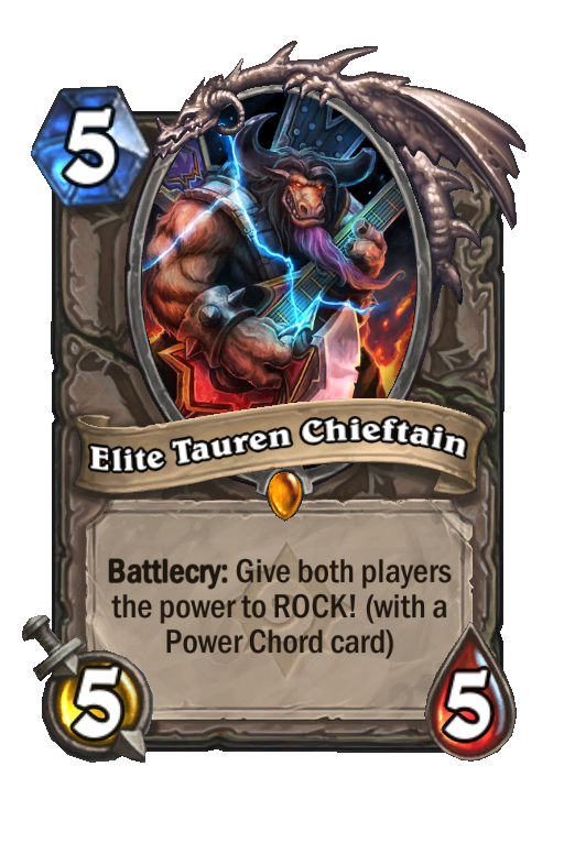 Elite Tauren Chieftain Hearthstone kártya