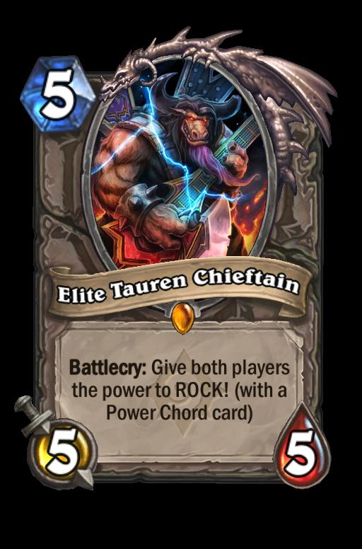 Elite Tauren Chieftain Hearthstone kártya