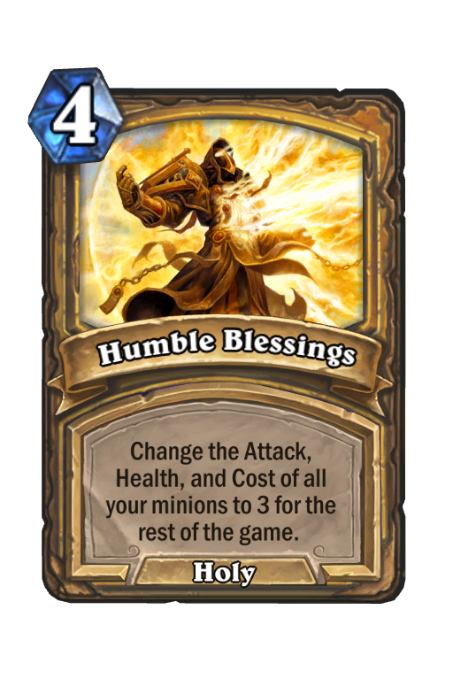 Humble Blessings Hearthstone kártya