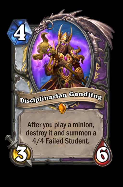 Disciplinarian Gandling Hearthstone kártya