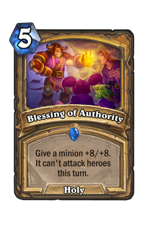 Blessing of Authority Hearthstone kártya