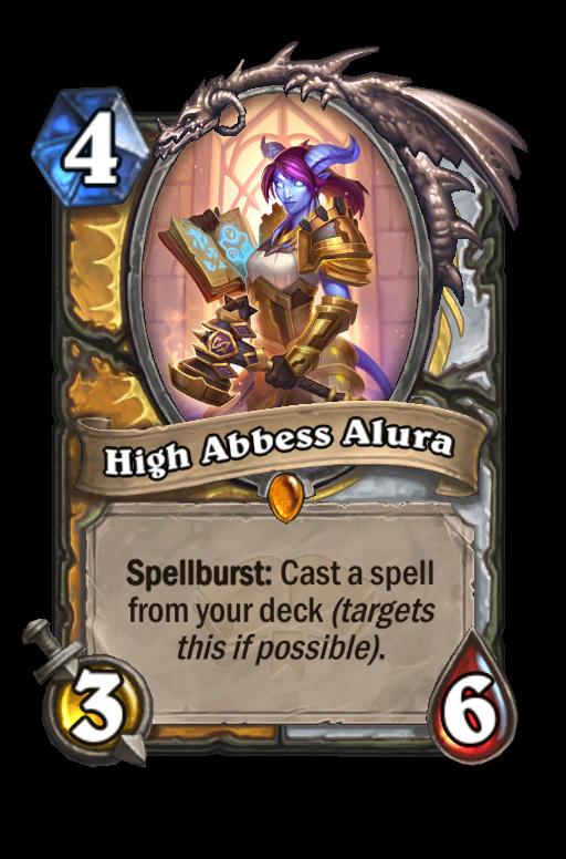 High Abbess Alura Hearthstone kártya