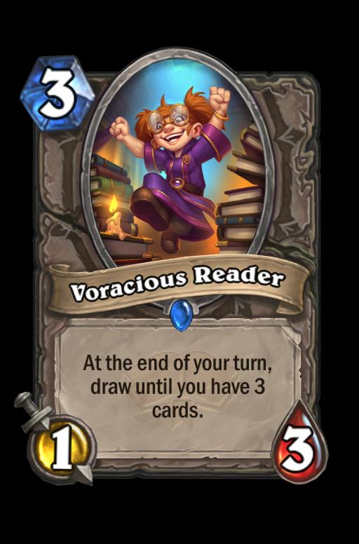 Voracious Reader Hearthstone kártya