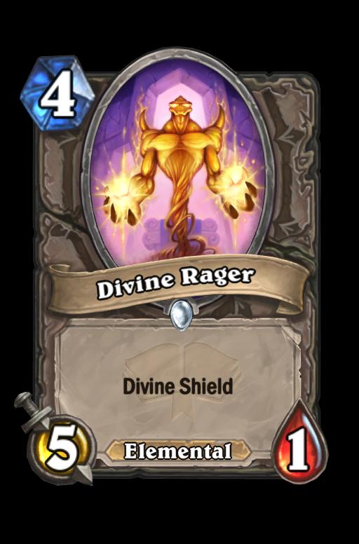 Divine Rager Hearthstone kártya