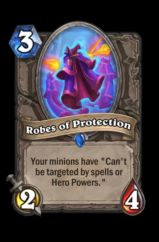 Robes of Protection Hearthstone kártya