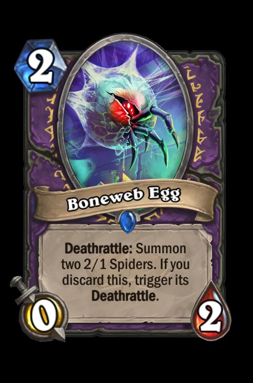 Boneweb Egg Hearthstone kártya