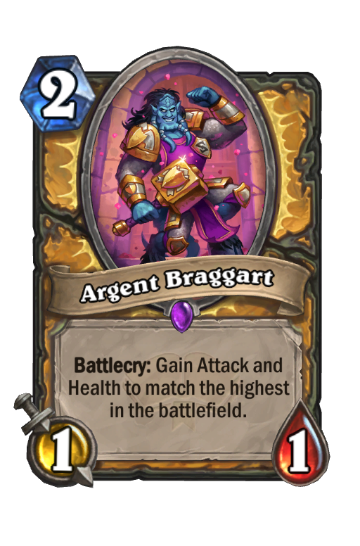 Argent Braggart Hearthstone kártya