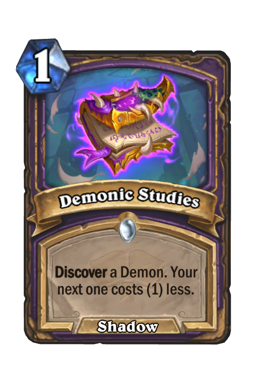 Demonic Studies Hearthstone kártya