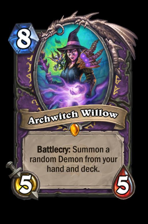 Archwitch Willow Hearthstone kártya
