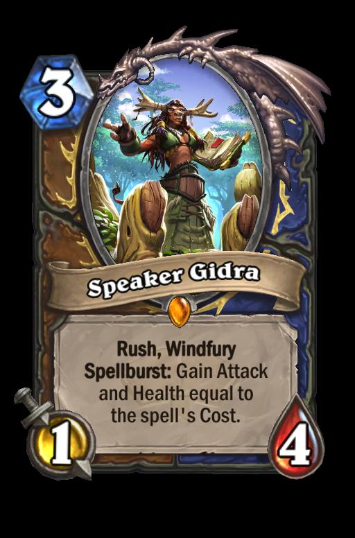 Speaker Gidra Hearthstone kártya