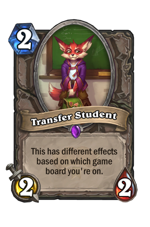 Transfer Student Hearthstone kártya