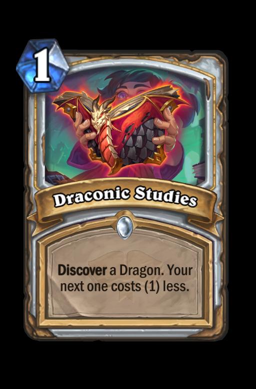 Draconic Studies Hearthstone kártya