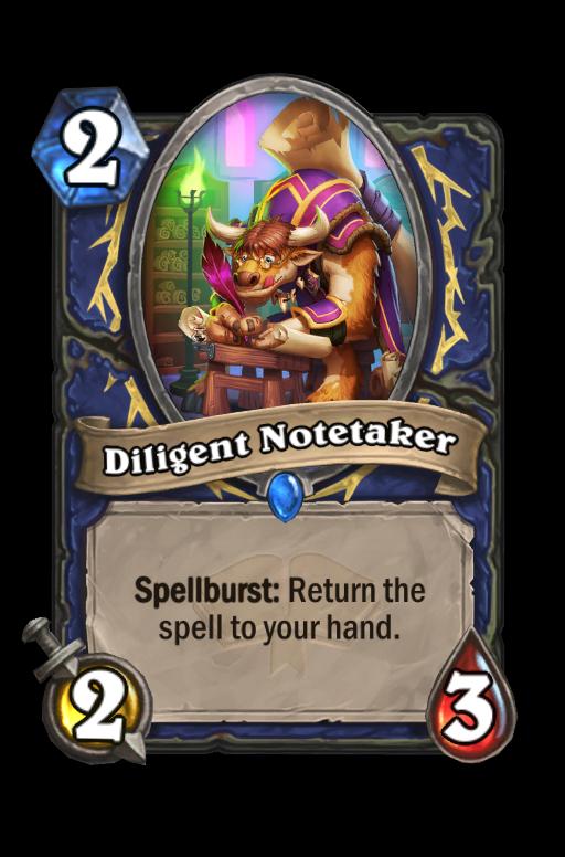 Diligent Notetaker Hearthstone kártya