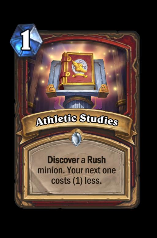 Athletic Studies Hearthstone kártya
