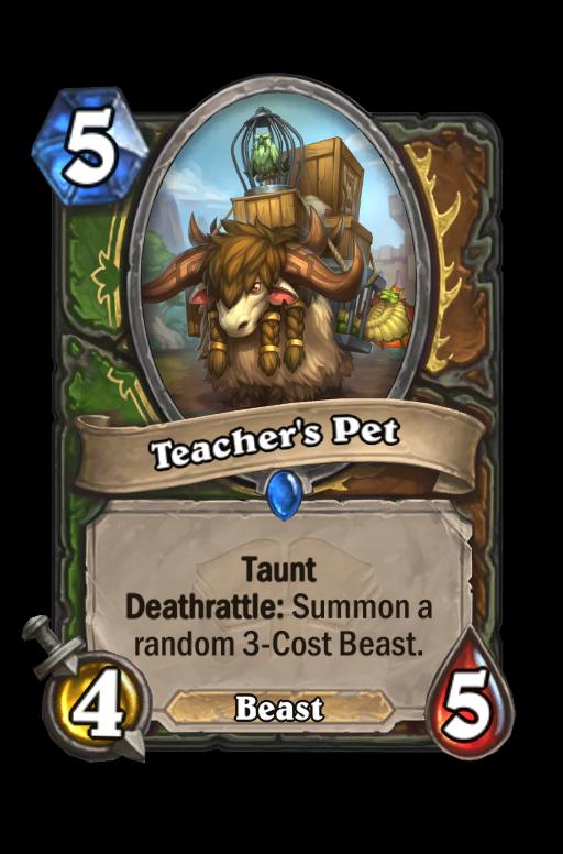 Teacher's Pet Hearthstone kártya