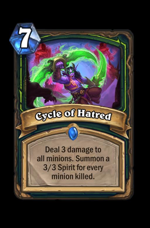 Cycle of Hatred Hearthstone kártya
