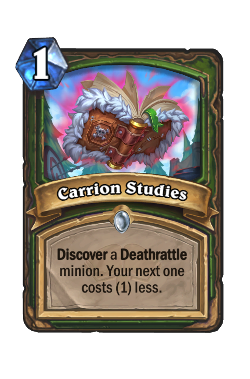 Carrion Studies Hearthstone kártya