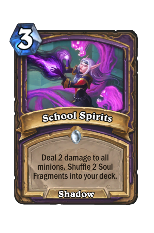 School Spirits Hearthstone kártya