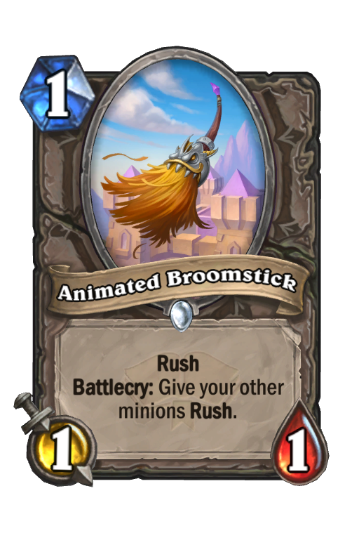 Animated Broomstick Hearthstone kártya