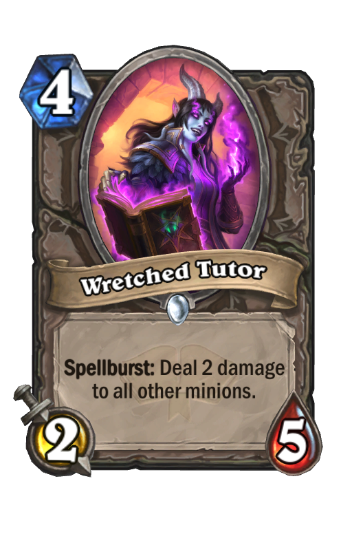 Wretched Tutor Hearthstone kártya