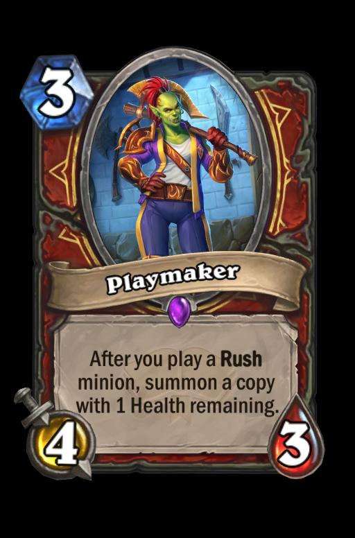 Playmaker Hearthstone kártya