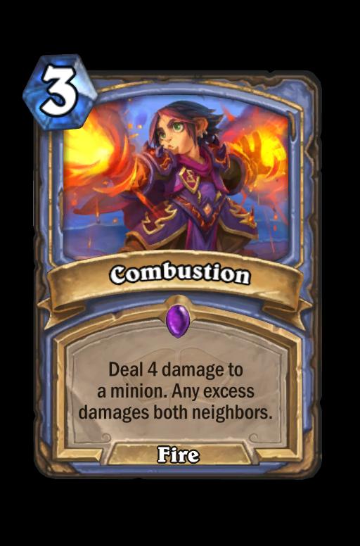 Combustion Hearthstone kártya