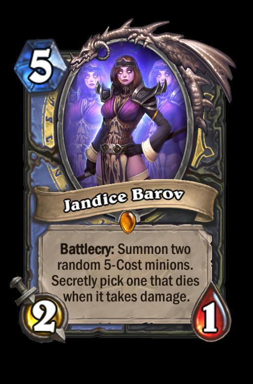 Jandice Barov Hearthstone kártya