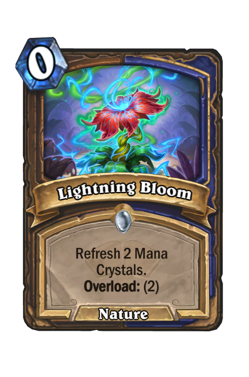 Lightning Bloom Hearthstone kártya