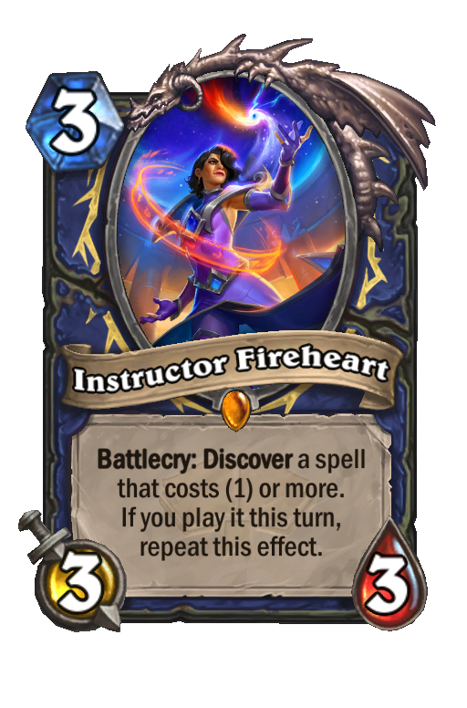 Instructor Fireheart Hearthstone kártya